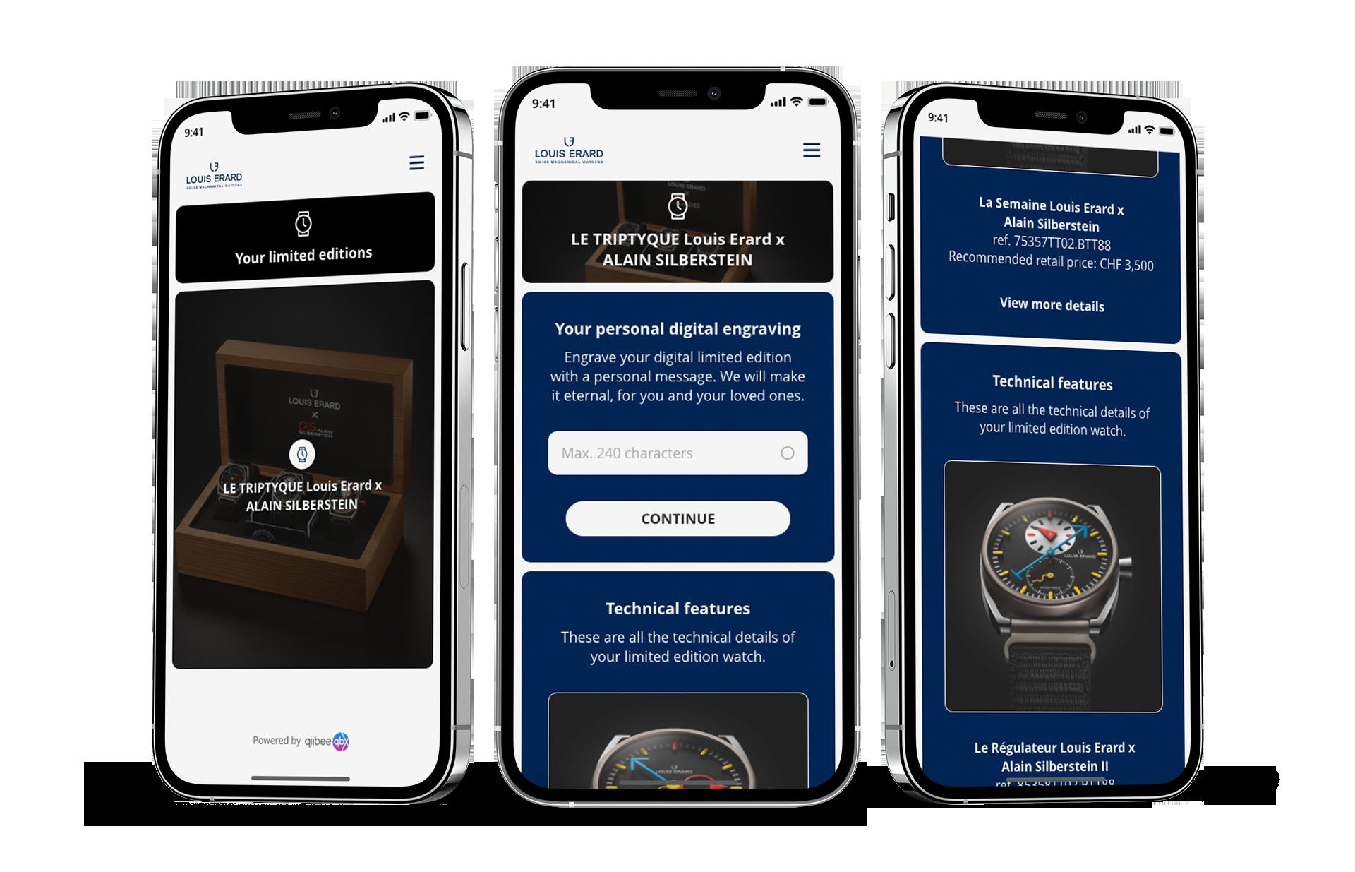 Louis Erard Digital Twin App