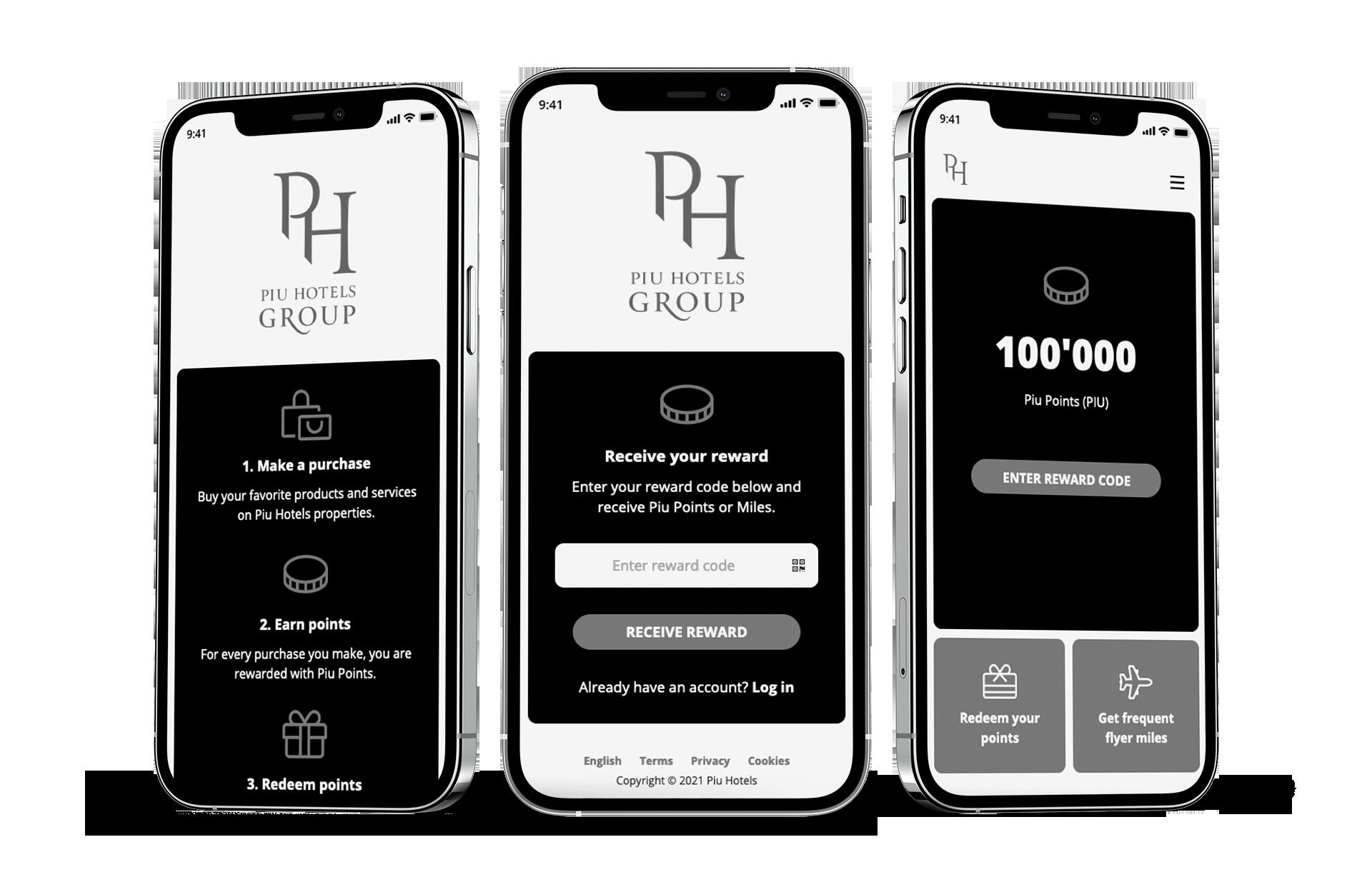 qiibee x piu hotels - white label app